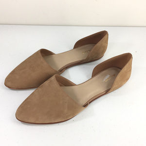 Aldo 10 Brown Leather D'orsay Flats New comfort